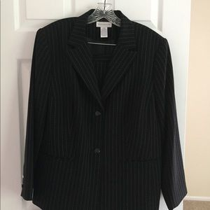 Women's Black and White Skirt Suit